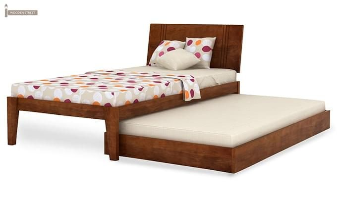 Fyodor Trundle Bed (Teak Finish)-9