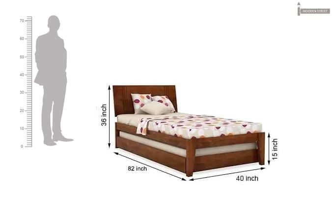 Fyodor Trundle Bed (Teak Finish)-11