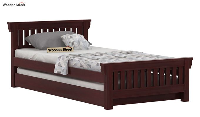 Kendra Trundle Bed (Mahogany Finish)-1