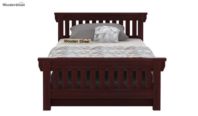 Kendra Trundle Bed (Mahogany Finish)-2