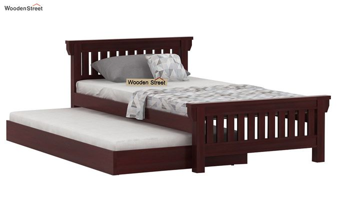 Kendra Trundle Bed (Mahogany Finish)-3