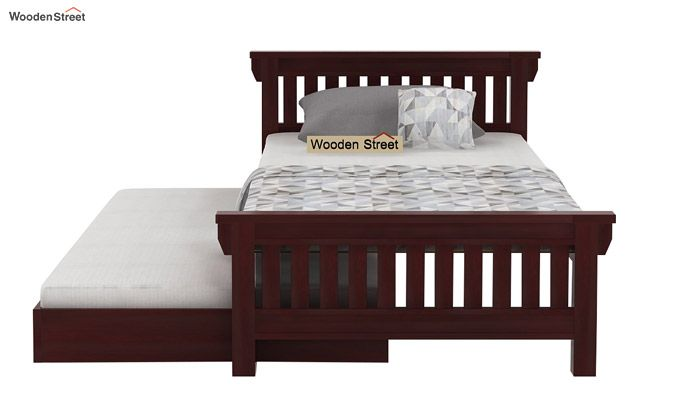 Kendra Trundle Bed (Mahogany Finish)-4