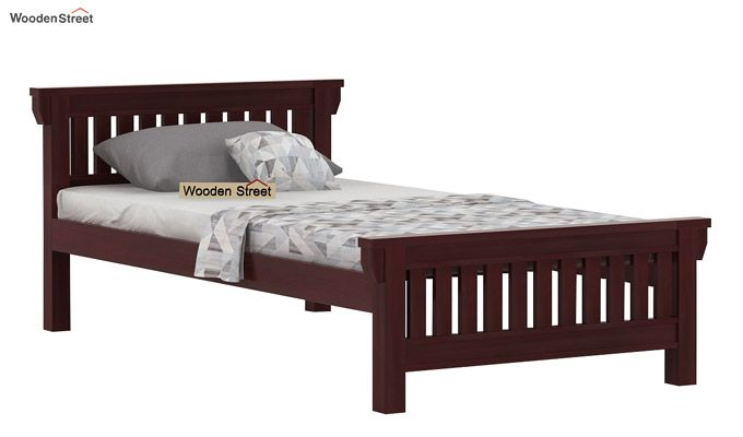 Kendra Trundle Bed (Mahogany Finish)-5