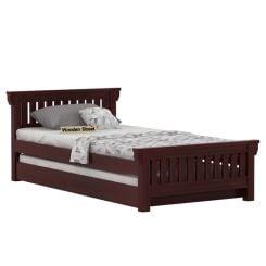 Kendra Trundle Bed (Mahogany Finish)