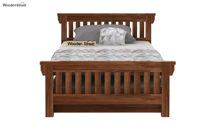 Kendra Trundle Bed (Teak Finish)-2