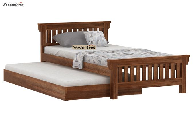 Kendra Trundle Bed (Teak Finish)-3