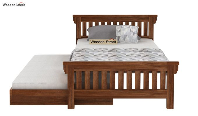 Kendra Trundle Bed (Teak Finish)-4