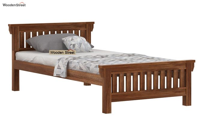 Kendra Trundle Bed (Teak Finish)-5
