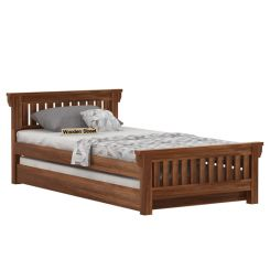 Kendra Trundle Bed (Teak Finish)
