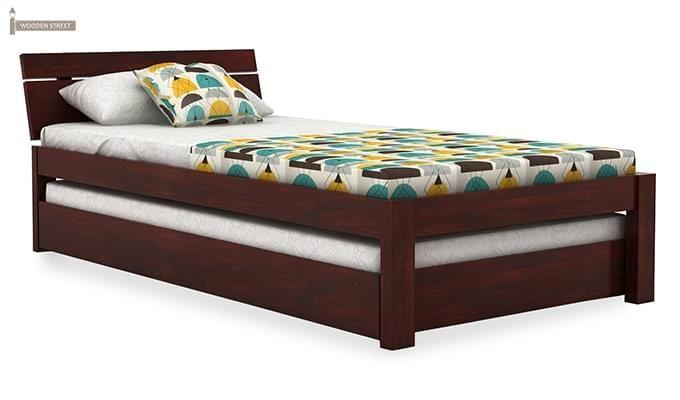 Morenz Trundle Bed (Mahogany Finish)-2