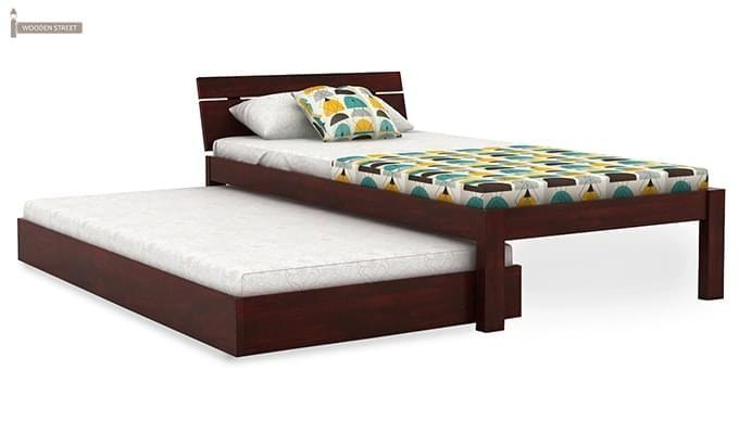 Morenz Trundle Bed (Mahogany Finish)-3