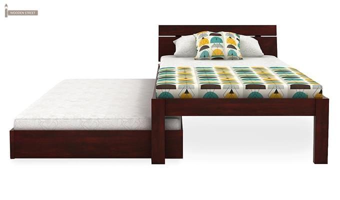 Morenz Trundle Bed (Mahogany Finish)-5