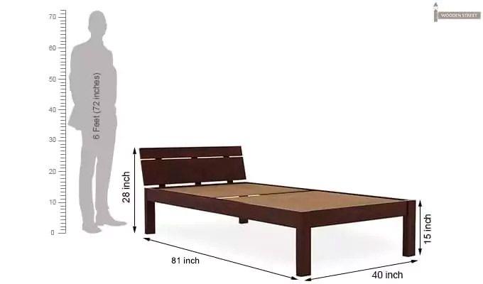 Morenz Trundle Bed (Mahogany Finish)-8