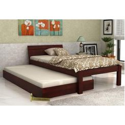 Morenz Trundle Bed (Mahogany Finish)