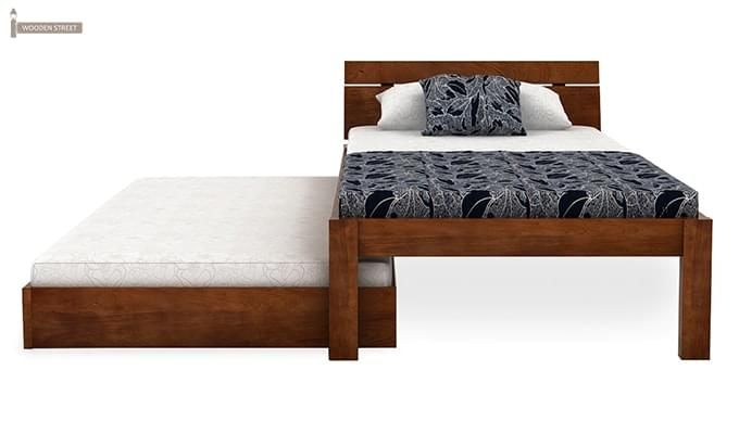 Morenz Trundle Bed (Teak Finish)-5