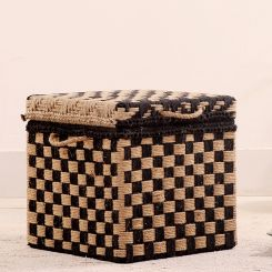 Gopher Woven Trunk Box (Black)