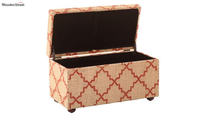 Indus Wooden Upholstered Trunk Box-4