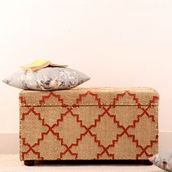 Indus Wooden Upholstered Trunk Box