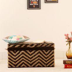 Plum Woven Trunk Box (Black)