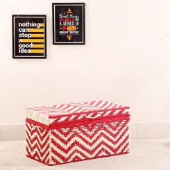 Plum Woven Trunk Box (Red)