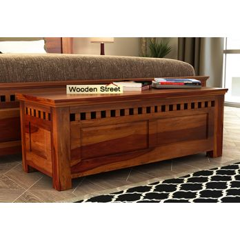 designer trunk coffee table in honey finish