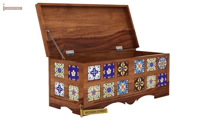 Boho Trunk Box (Teak Finish)-3