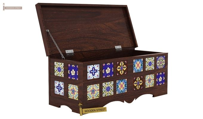 Boho Trunk Box (Walnut Finish)-3