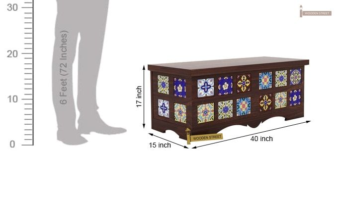 Boho Trunk Box (Walnut Finish)-5
