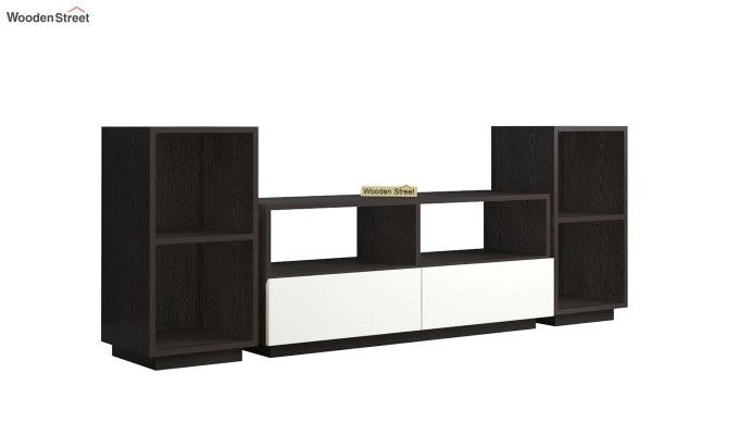 Tulisa Tv Unit with Frosty White Drawer (Flowery Wenge Finish)-2