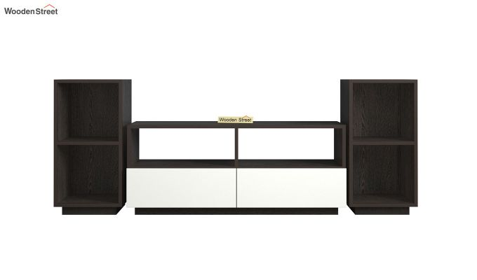 Tulisa Tv Unit with Frosty White Drawer (Flowery Wenge Finish)-3