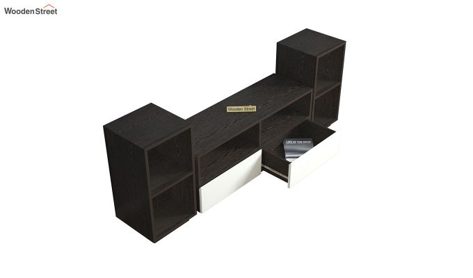 Tulisa Tv Unit with Frosty White Drawer (Flowery Wenge Finish)-4