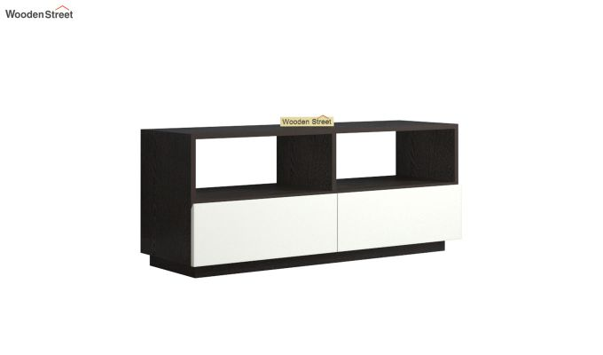 Tulisa Tv Unit with Frosty White Drawer (Flowery Wenge Finish)-5
