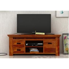 Adolph Tv Unit (Honey Finish)