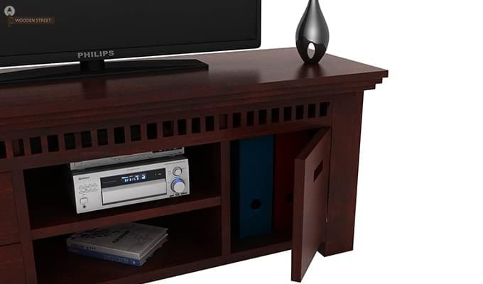 Adolph Tv Unit (Mahogany Finish)-2
