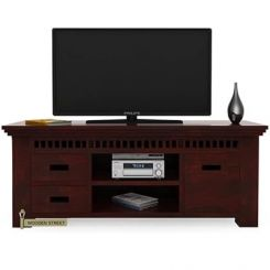 Adolph Tv Unit (Mahogany Finish)