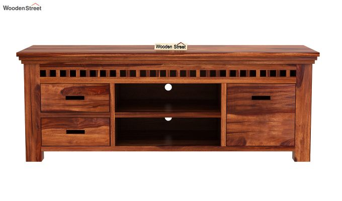 Adolph Tv Unit (Honey Finish)-3