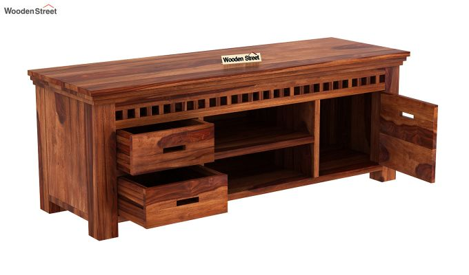 Adolph Tv Unit (Honey Finish)-4