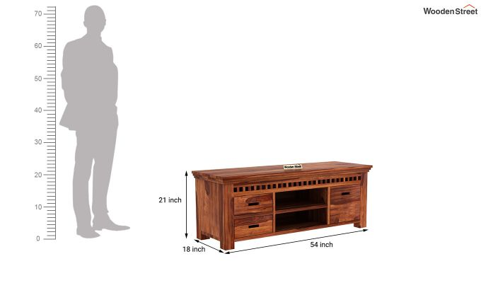 Adolph Tv Unit (Honey Finish)-5