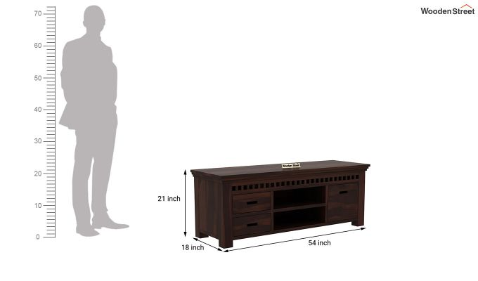 Adolph Tv Unit (Walnut Finish)-5