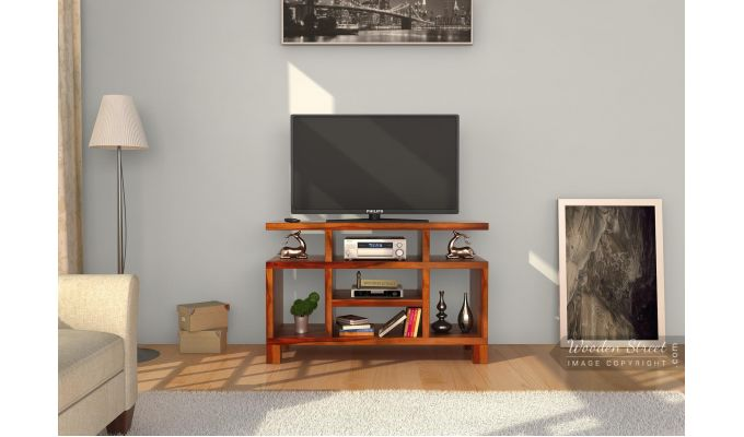 buy alfre tv unit honey finish online in india wooden 16989 | look 680x400