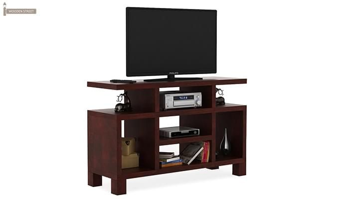 Alfre Tv Unit (Mahogany Finish)-1