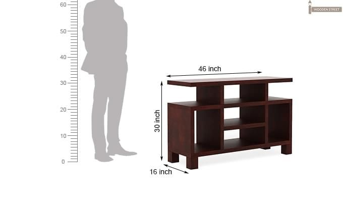 Alfre Tv Unit (Mahogany Finish)-6