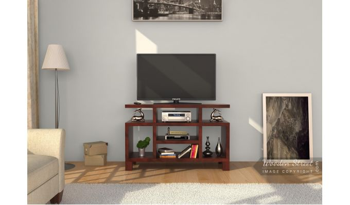 Alfre Tv Unit (Mahogany Finish)-2