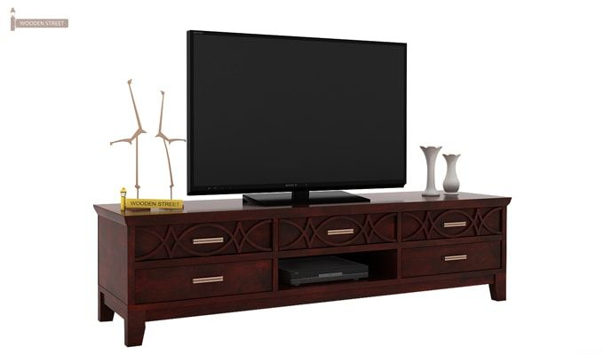 Allan Tv Unit (Mahogany Finish)-1