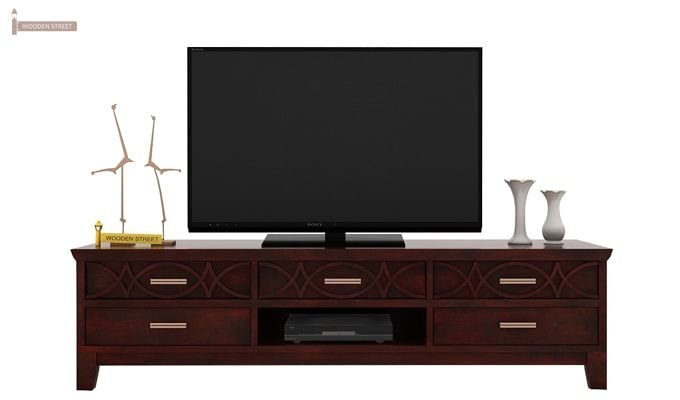 Allan Tv Unit (Mahogany Finish)-2