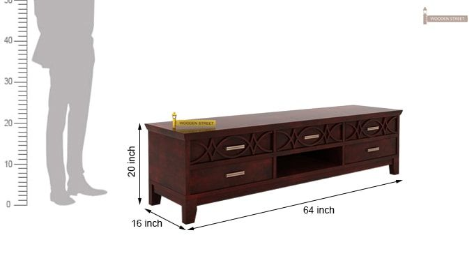 Allan Tv Unit (Mahogany Finish)-5