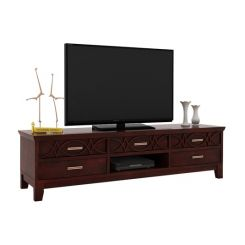 Allan Tv Unit (Mahogany Finish)