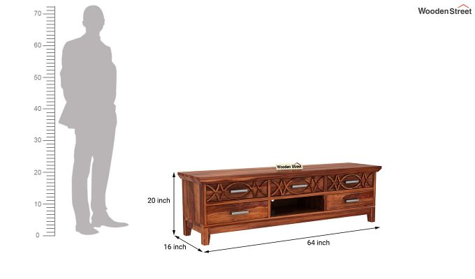 Allan Tv Unit (Honey Finish)-6
