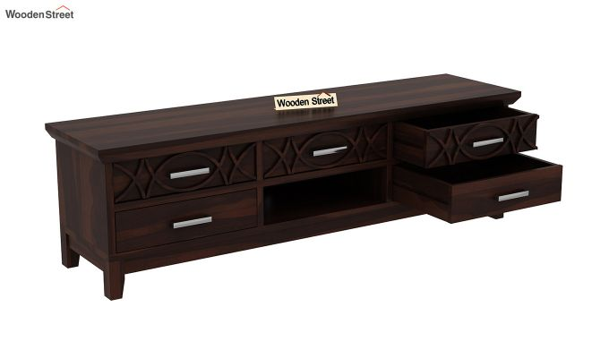 Allan Tv Unit (Walnut Finish)-4