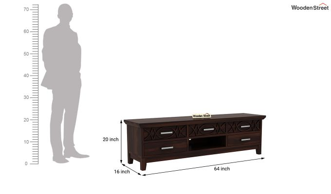 Allan Tv Unit (Walnut Finish)-6